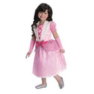 Barbie Rosebud Princess Girls Costume - M NEW